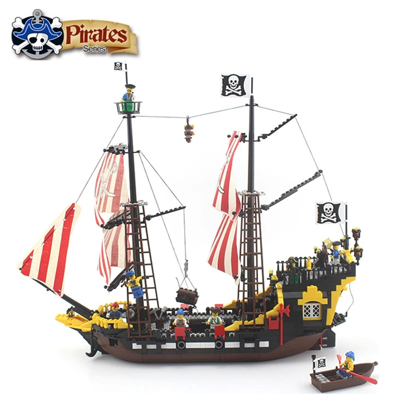 Enlighten 308 870 Pcs Pirates Series Black Pearl Model Building Blocks Kit Bricks Educational Toys Gifts Compatible With Lego free shipping plate 2x4 diy enlighten block bricks compatible with lego assembles particles