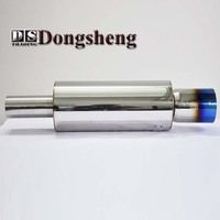 3 Inches Stainless Steel Plated Blue Sports Car Modification Sounds Pretty Deep Straight Row H K