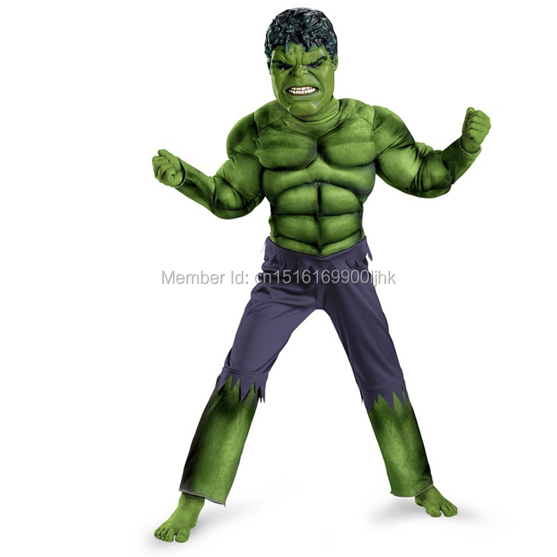 High Quality Children Boys T Shirt Animation Avengers Movie Hulk Muscle Costume Clothing,suitable For 2-12 Years