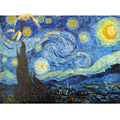Michelangelo Paper Card Jigsaw Puzzles 1000 Pieces Old Master The Starry Night by Vincent van Gogh Educational Toy DIY Painting