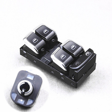 OEM Chrome power window switchs + Side Mirror Switch Control For A4 B8 A5 8T Q5 8R S4 S5 8KD 959 851 8RD959565  4GD 959 565
