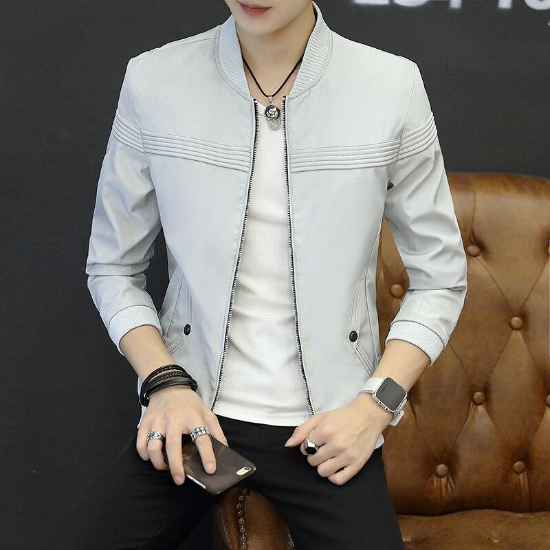 New British Style Men S Jacket Coat Slim Fit Casual Mens Windbreaker