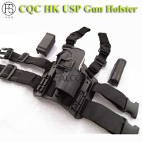 HK USP Compact RH Pistol Paddle Belt Drop Leg Holster Gun Holster Black Color