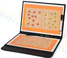 3pcs volleyball Coach Match Training Tactical Plate Coaching Board Kits Magnetic Chess Pieces Foldable PU Cover