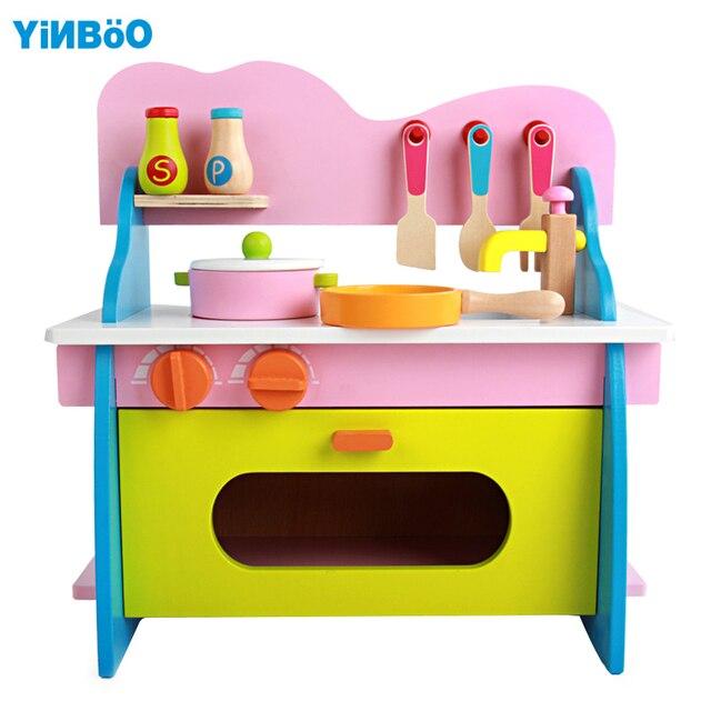 Baby spielzeug kid kochen set holz küche spielzeug für kinder holz ...