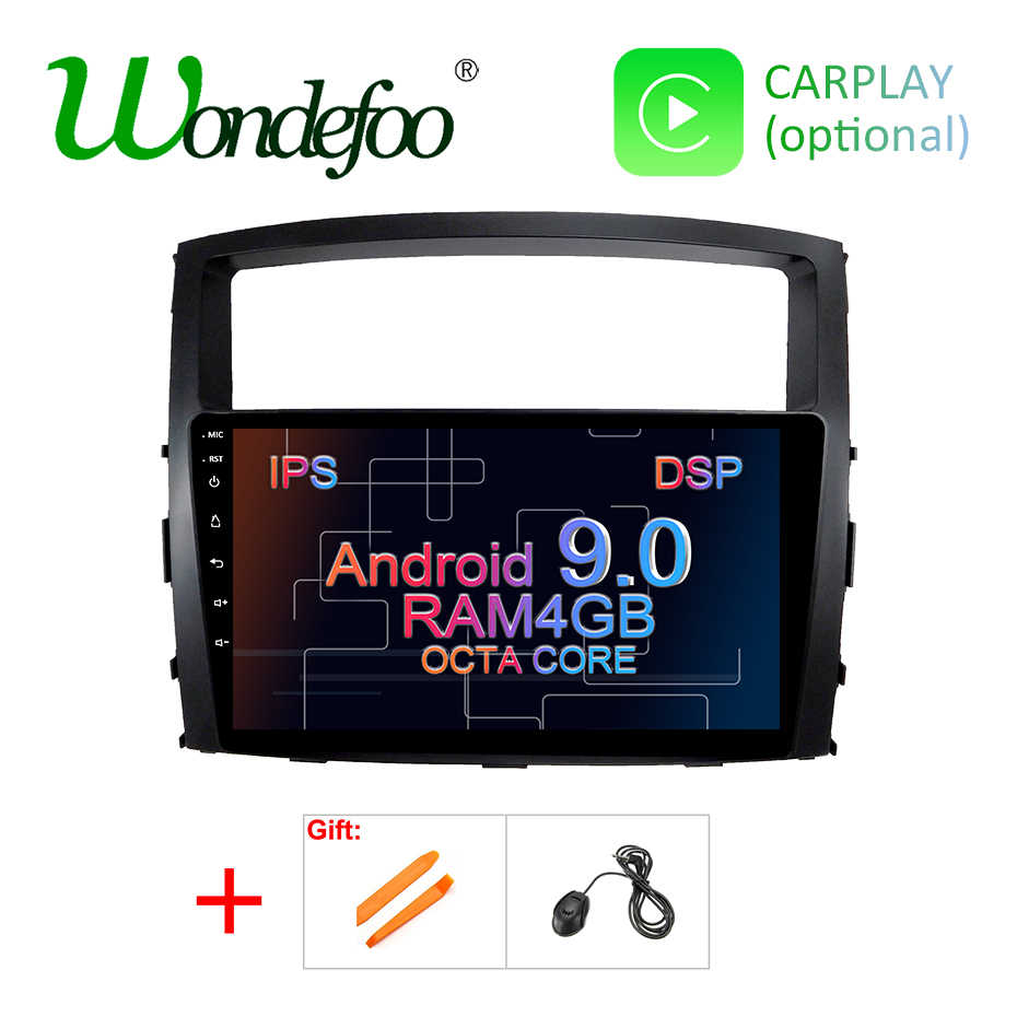 DSP ips 4G Android 9,0 Автомобильный gps радио для Mitsubishi Pajero V97 V93 2006-2015 Мультимедиа Навигация стерео головное устройство аудиосистемы без DVD