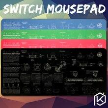 Interruptor de teclado mecânico mousepad, cereja 900, 400, 4mm, bordas sem costura, macia/de borracha, alta qualidade