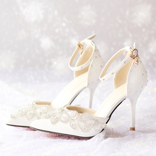 Pointed Toe Pink Bridal Shoes Women High Heels Prom Lady Crystal Formal Shoes Platforms Rachel with Buckle Strap Wedding Shoes