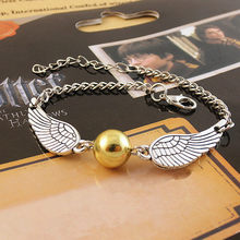 HP Golden Snitch Bracelet Horcrux Necklace Figure Toys Dark Lord Magic Birthday Christmas Harri Potter Adults Kids(China)