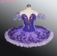 2014 New Arrival Adult Velvet Purple Ballet Tutus Nice Classical Competiton Ballet Tutu Professional Ballet Costumes