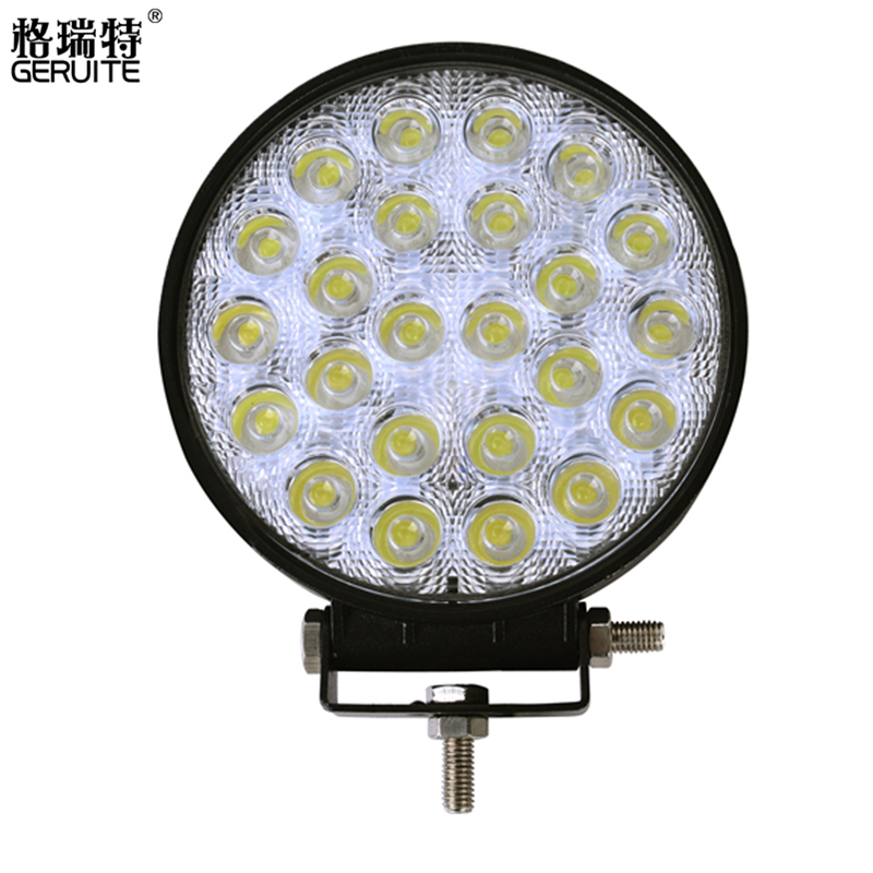 1pc 72W Round Waterproof LED Work Light spot light Flood Beam Truck Driving Lamp Offroad Light For ATV SUV Boating super slim mini white yellow with cree led light bar offroad spot flood combo beam led work light driving lamp for truck suv atv