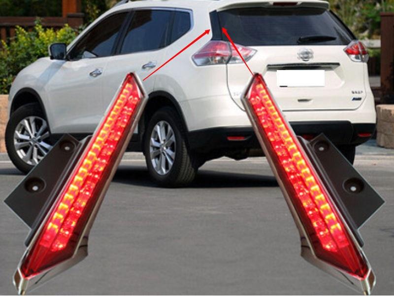 For Nissan Rogue X-Trail T32 2014 2015 2016 Lunotto Decorazione della lampada led della luce di freno Spoiler карандаш для глаз rimmel soft kohl kajal тон 011 контурный