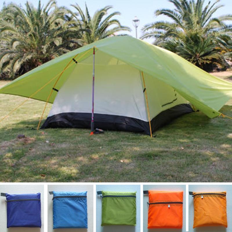 Offres spéciales double tente double couche tentes camping en plein air amoureux 2 personnes tente étanche