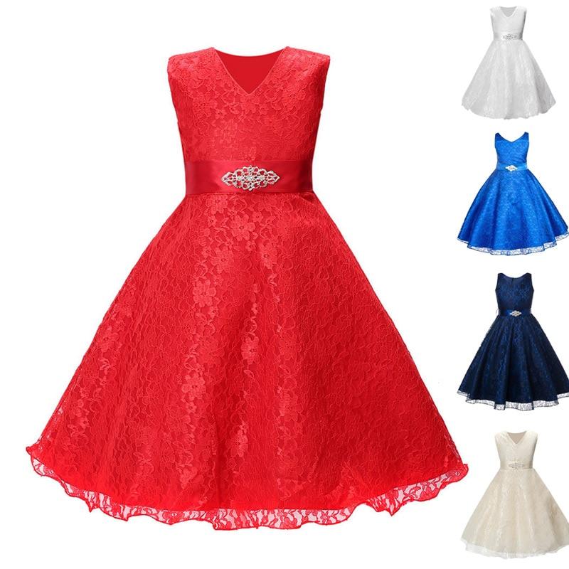 Fashion Anak Gadis Tanpa Lengan Tutu Dress Remaja Prom Gaun Pesta