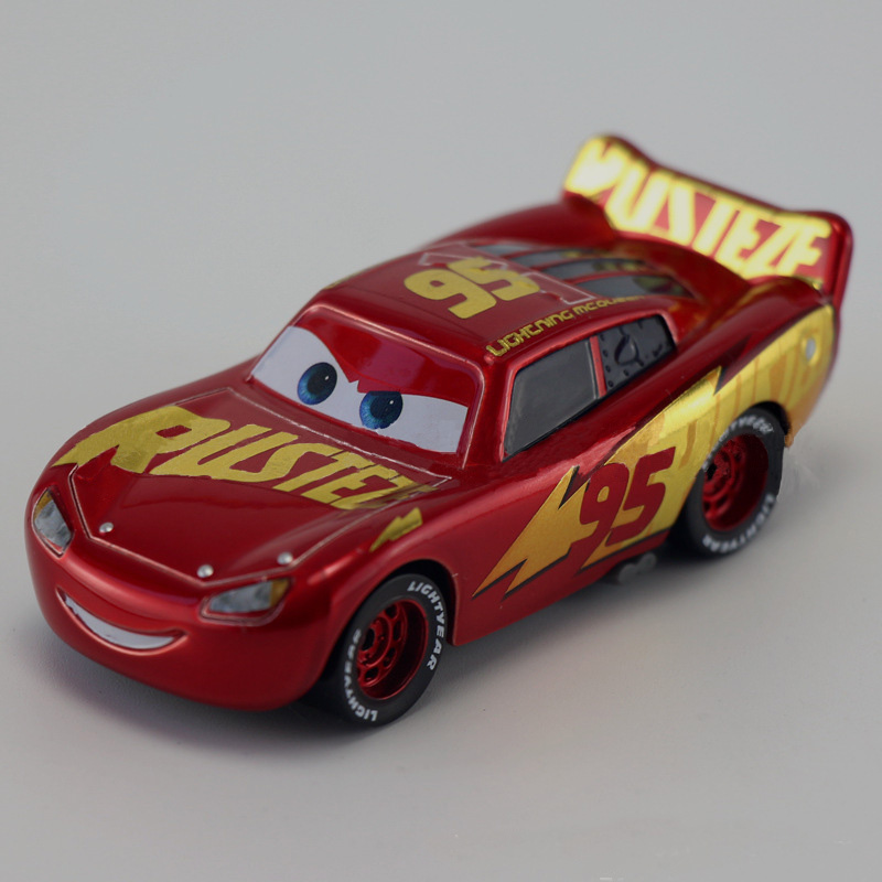 Disney 7cm Figure Mini Toy Car 1:55 Scale Action Figure Toy Model Red Racing Car Alloy Model Toys for Childrens Birthday Gift
