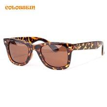 COLOSSEIN Classic Fashion Sunglasses Women Men Square Leopard Pattern Frame Eyewear 2017 New Trendy Summer Style Eyewear