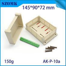 1 psc good qialtity abc material high switch sticker plastic din rail housing pcb  junction box for electronics 145*90*72mm