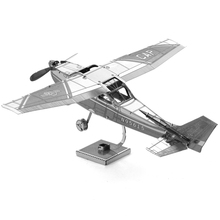 Cessna 172r Skyhawk Airplane Fun 3D Metal DIY Miniature Model Kits Puzzle Toys Children Educational Boy Splicing Science Hobby