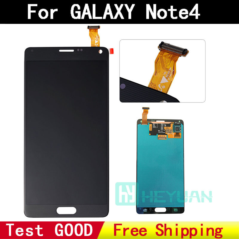 Replacement 100 Original for Samsung Note 4 LCD display font b touch b font font b