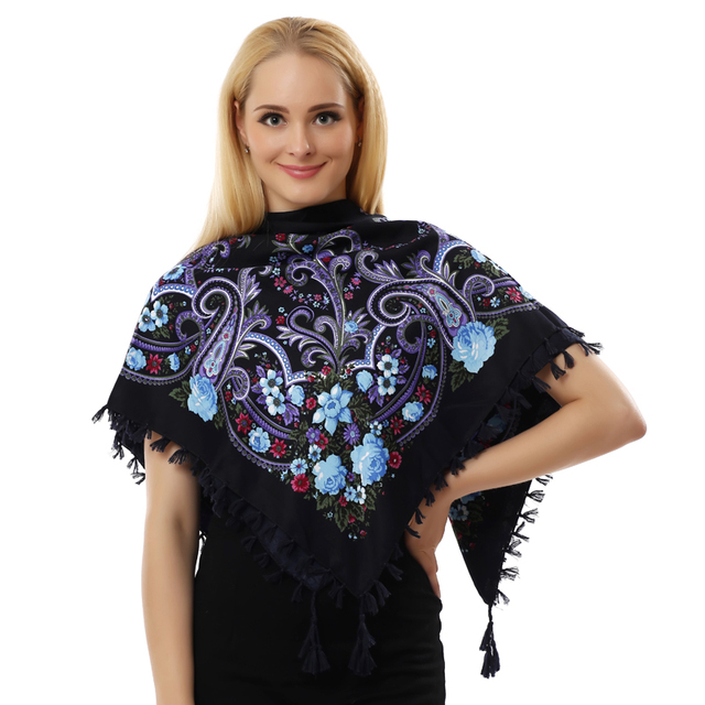 Tassel Square Scarf | Shawls and Wraps | Upto 60% Off Now
