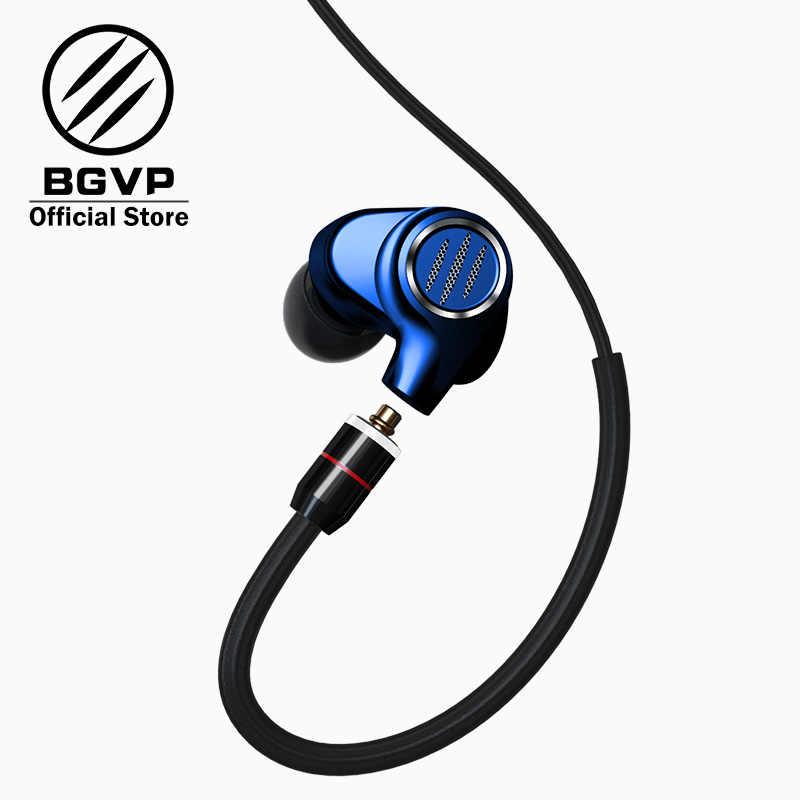 BGVP DMS HIFI hybrydowe słuchawki w uchu monitory nowy 2019 6BA wyważone armatura sterownik wysokiej rozdzielczości MMCX