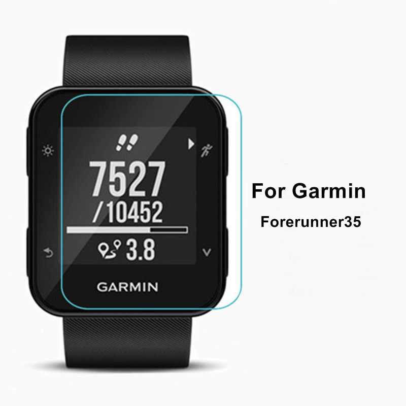 3PCS 9H Tempered Glass For Garmin Forerunner 35 HR Round Smart Watch Screen Protector Anti-scratch Protective Film