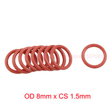 OD 8mm x CS 1.5mm VMQ PVMQ SILICONE O ring O-ring Oring Seal Round Gasket Rubber Washer