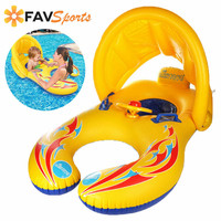 Swim Rings 2019 Summer New Baby Safety Swimming Rings Infatable Pool Float Seat Boat With Sunshade inflatable Swim Pool Fun Toys