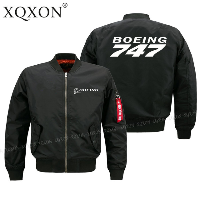 XQXON-2019 new hot sale BOEING 747 plane design man Coats Jackets men pilot jacket Spring fall winter clothes(Customizable) J61