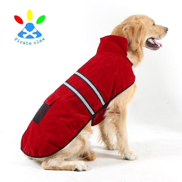 big dog pet clothes golden cloak Satsuma large dog reflective Labrador new winter coat