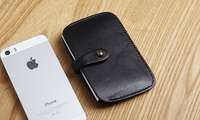 LAN Free Shipping Men S Leather Credit Card Case Bank Card Case Credit Card Holder Hot