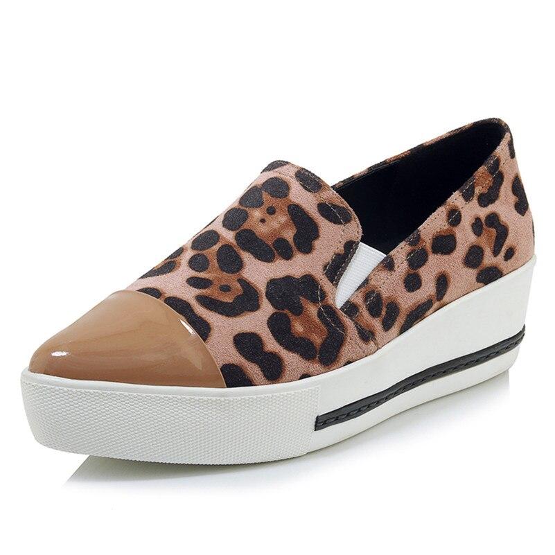 76a57472 Leopard Dorywczo Kobieta Oryginalne Klasyczny Nowe Szpilki Summmer Buty  Mieszkania Skórzane żółty Moda Robocze Podstawowe Wiosna Różowy Kobiety  2019 Fedonas ...