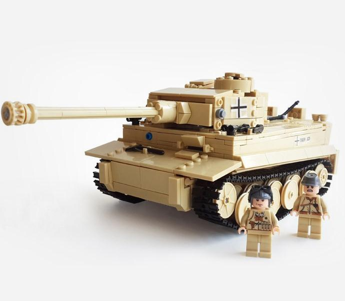 EFHH Tank Series WW2 Germany The Panzerkampfwagen Model Military Tank Vehicle Block Classic Toy for Boy Gift Toy Drop Shipping 548pcs military ww2 german panzer iii tank ausfl primary battle tank model building block assembly toy for kid christmans gift