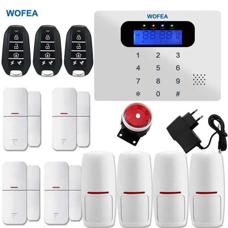 imágenes para Quad band wireless/wired gsm LCD sistema de alarma teclado táctil inicio sistemas de alarma de seguridad Sirena Atada Con Alambre Kit SIM SMS alarma