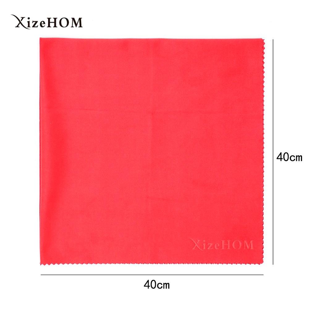 XizeHOM (40*40 см/1 шт.) Большая салфетка из микрофибры для очистки всех очков, очков, линз камеры (6 цветов)