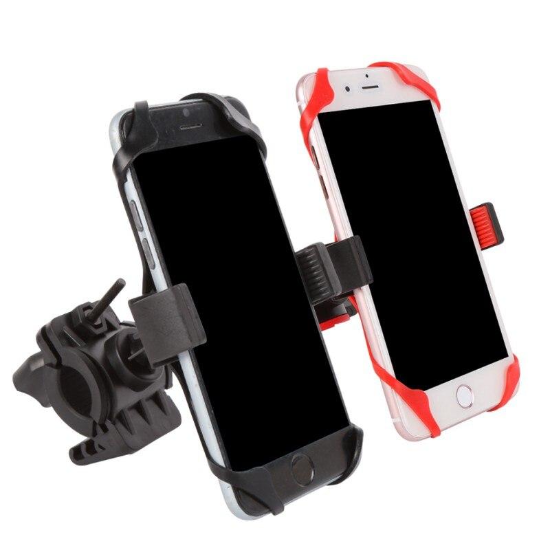 Велосипед сумка мобильный телефон держатель Поддержка Мотоцикл Велосипед Руль держатель dsrn (с 1 красный и 1 черный силиконовый случаев)