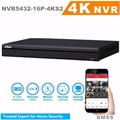 Em estoque dahua 32 canal 4 k h.265 gravador de vídeo em rede NVR5432-16P-4KS2 16 PoE 2 Portas SATA & HDMI Resolução Máxima 3840*2160