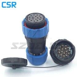 SD28TP-ZM  16 pin wodoodporna wtyczka panel gniazda do montażu na złącze kabla LED