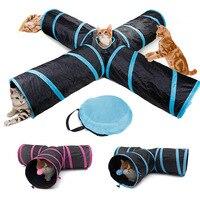 Дропшиппинг туннель для кошек игрушки для кошки котенка 4 отверстия складной Crinkle Кот играющая игрушка «туннель»