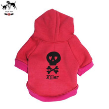 Bones Skull Pattern Puppy Dog Clothes Hoodies 3 Colors 4 Size Available Teddy Coat Jacket Winter
