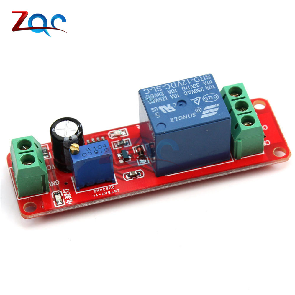 DC 12V Delay Relay Shield Module NE555 Timer Switch Adjustable Module 0 to 10 Second 0~10S Car Oscillator dc 12v led display digital delay timer control switch module plc automation new