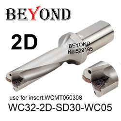 Más allá de 30mm 30,5mm WC32-2D-SD30-WC05 SD30.5 U taladro uso indexable insertos de carburo WCMT050308 WCMT CNC herramientas