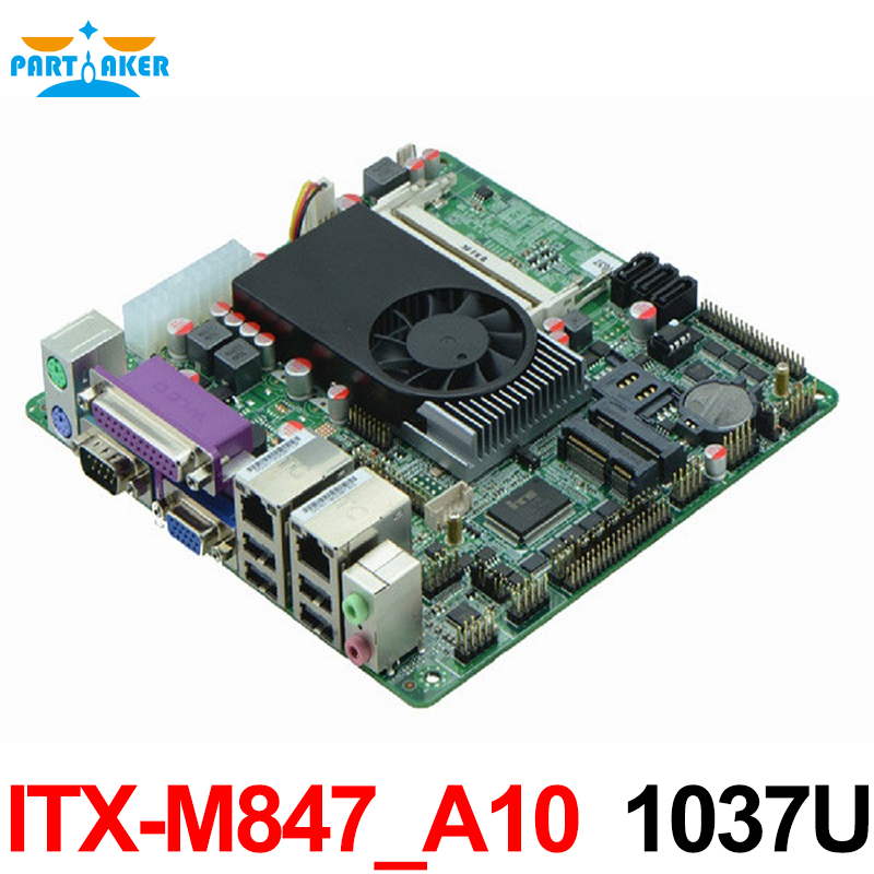 Mini Itx industrial motherboard 1037U / 10COM/ Dual 24 bits LVDS/POS Machine industrial Mini ITX-M847_A10 mini itx motherboard adv an tech aimb 212n s6a1e n450 twin 6 fan serial lvds 100% tested perfect quality