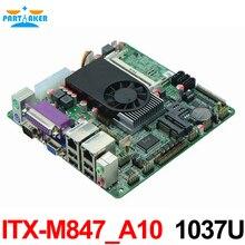 Mini Itx industrial motherboard 1037U 10COM Dual 24 bits LVDS POS Machine industrial Mini ITX M847