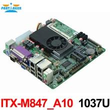 Mini Itx industrial motherboard 1037U 10COM Dual 24 font b bits b font LVDS POS Machine
