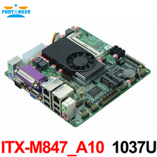 Mini Itx industrial motherboard 1037U / 10COM/ Dual 24 bits LVDS/POS Machine industrial Mini ITX-M847_A10