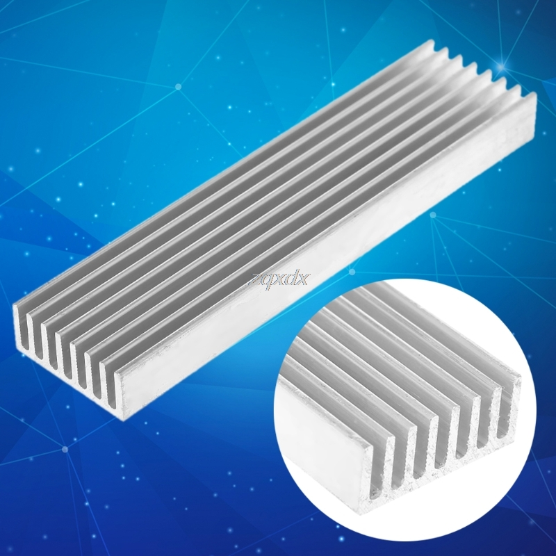 DIY Cooler Aluminum Heatsink Heat Sink Chip 100*25*10mm For IC LED Power Transistor Whosale&Dropship