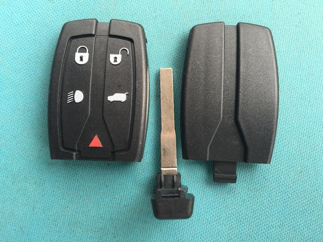 1pc NEW REPLACEMENT KEY BLANK FOR LAND ROVER FREELANDER 2 5 BUTTON REMOTE SMART KEY FOB CASE SHELL UNCUT BLADE NO LOGO