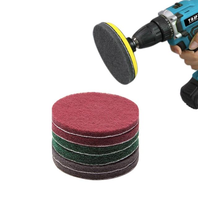 TASP 5 дюймов 125 мм drill питание кисточки плитка скруббер чистящие cleaning комплект абразивной полировки pad