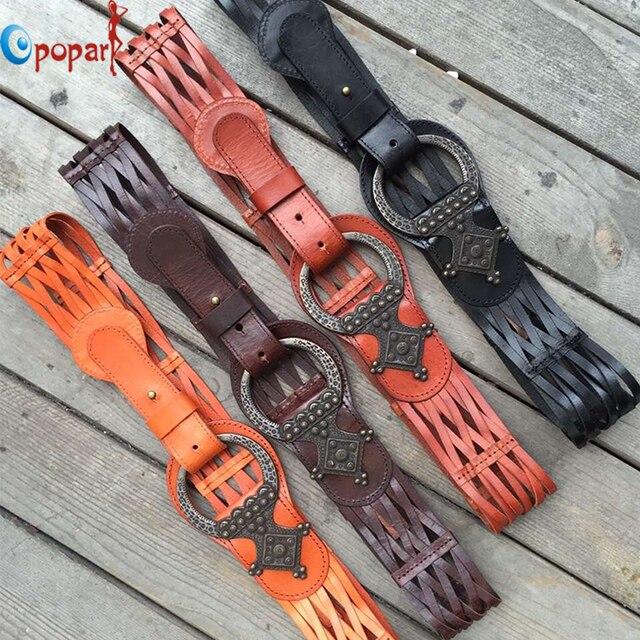 2016 las mujeres de punto de alta calidad cinturones de cuero genuino de la correa femenina cinturón ancho decorado PB286 hueco retro cinturón envío libre